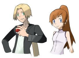 Haruko and Kate - Sugimori Style by Negai-Boshi