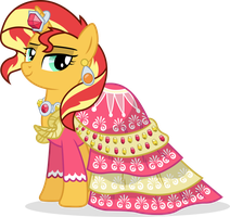 Sunset Shimmer's Dress by illumnious