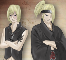 Mello and Deidara - Color by Hatake-Flor