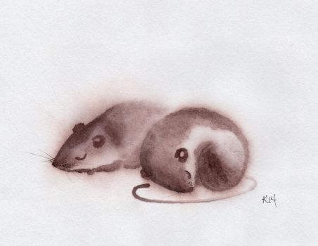 Two Brown Mice001 by Jiuhl