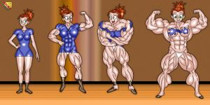 Amanda Muscle Growth by LordKelvin