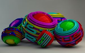Custom-Area-Logo Colourful Balls by Dracu-Teufel666
