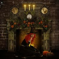 Fireplace Evening by flina