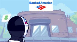 Dallas wants to rob Bank Of America by foxpiratefrom87