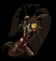 Zombie Owl - Colored by Earldense