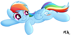 Drawponies Dashie Concept Inked by ShadowNinja976