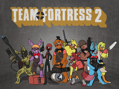 FNAF + TF2 (crossover) by MadPegasus