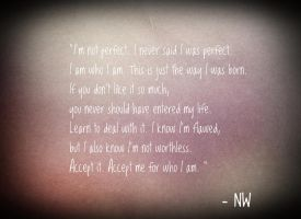 Accept Me - Quote. by MinjiBby