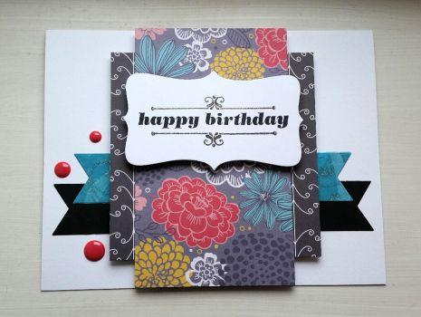 floral birthday card by inconsistentsea