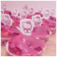 hello kitty muffins. by syncopated-ART