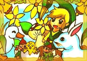 Minish Cap Easter by KawaiiDarkAngel