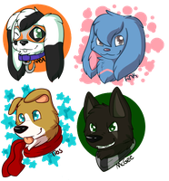 Headshots Examples, Batch 2 by CollectionOfWhiskers