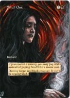 Magic Card Alteration: Snuff Out 2-24-14 by Ondal-the-Fool