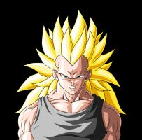 Full-Power SSj3 Vegeta :H+S: by moxie2D