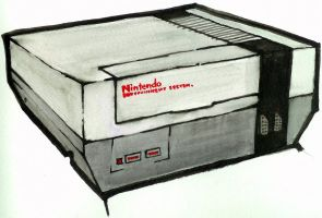 Nintendo Watercolour by emceelokey