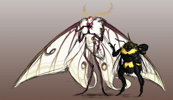Moth Kos And Beedrone King by half-rose