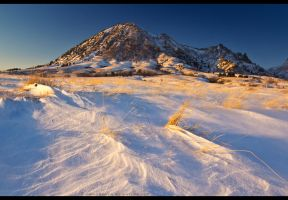 The Frozen Butte by FramedByNature
