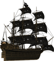 3d Pirate Ship Png Pack (5) by wickedlymagickal