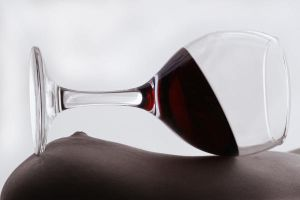 Glass with red wine by Floriandra