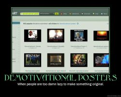 demotivational posters by sinsorrow