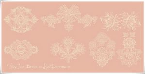 Vintage Lace Ornament High Res PS Brushes by RussDepress