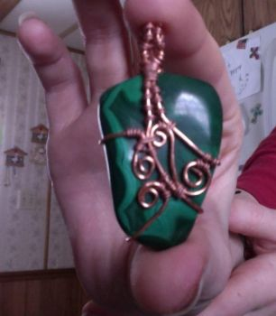Malachite with Copper by Twinflame-Studios