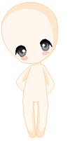 Shy chibi - base :remade: by MoonkitVelvet