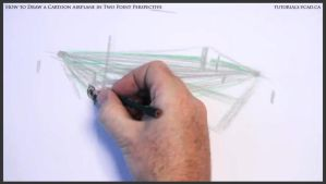 Learn How To Draw A Cartoon Airplane 009 by drawingcourse