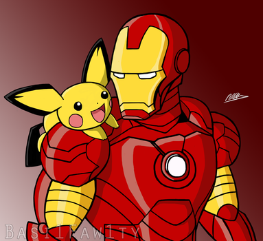 Ironman and friend (COMMISSION) by basi1faw1ty