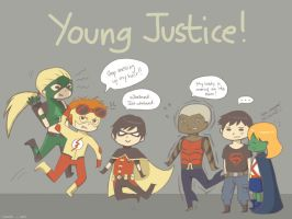 Young Justice by peachbunny27