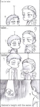 Castiel's height by ILsama