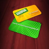 Studenten Coupon business card by jovargaylan