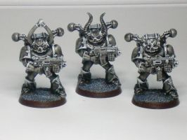 Chaos Space Marines Black and White by McGoe