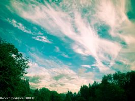 Cloudy summer sky by RobertsGallery