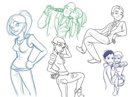 Artemis Fowl sketches by iesnoth