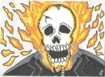 Ghost Rider Sketch Card by kylemulsow