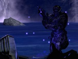 Halo Reach: blue light by purpledragon104