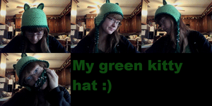 Green Kitty Hat by delanygingerprice1