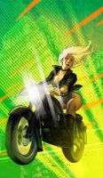 Black Canary rides! by StephaneRoux