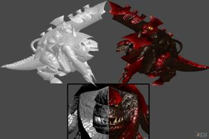 'Warhammer 40000' biovore tyrannid poseable by lezisell