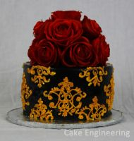 Gothic Rose Cake by cake-engineering