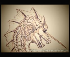 .:: Caeruleus the Wavemaker - Sketch :: by Windspirit-Aquaeris