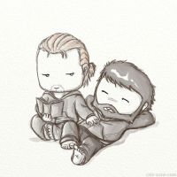 Anders and Hawke cuteness by criz