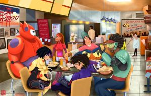 Big Hero 6 Shawarma by TheAmateurAesthete