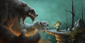 A Boy and his Werewolf by Domiticus