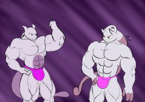 Pokemon: Buff Mewtwo Bros. by CaseyLJones