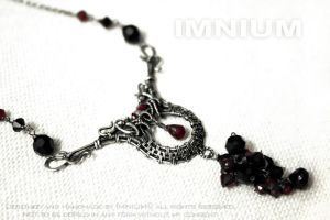 Art Deco necklace by IMNIUM