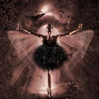 Black Swan Halloween Transformation by SharonLeggDigitalArt