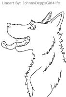 Wolf-Tongue Out LINEART by JohnnyDeppsGirl4life