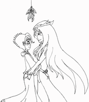 Menoforte: Under the mistletoe by superaura